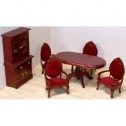 Poppenhuis eetkamer meubels