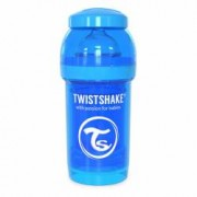Biberon anticolici cu recipient lapte praf Twistshake 180 ml albastru