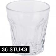 Merkloos Shotjes glazen setje van 36x stuks