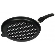 Tigaie grill AMT Gastroguss 432BBQ, 32cm, maner detasabil (Negru)
