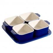 Staub Conjunto para Aperitivos Cerâmica 5 Peças Azul Marinho Staub