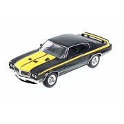 Welly 1970 Buick GSX, Black w/ Yellow - 22433WBK 1/24 Scale Diecast Model Toy Car