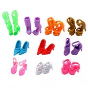 Eastvita 10 Pairs Of Doll Shoes, Fit Barbie Dolls (Exactly As In Photo)