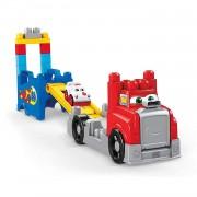 Mega Bloks Camión De Carreras Y Construcción, Talla única Mattel