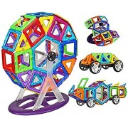 Akrobo 52 PCS Mag Magical Magnetic Building Blocks 3D Magic Play Stacking Set for Brain Development (Multicolour)