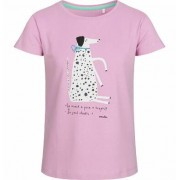 Endo Bluzka z krótkim rękawem dla dziewczynki, z dalmatyńczykiem, różowa, 2-8 lat