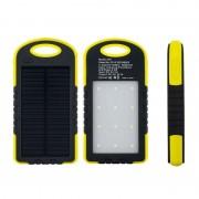 Baterie extern Powerbank cu incarcare solara si lanterna 5000mAh