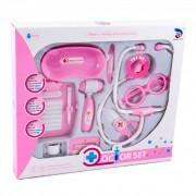 Sztetoszkópos orvosi készlet, rózsaszín