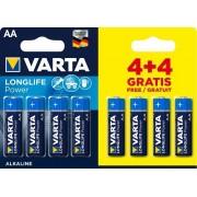Baterija Varta Longlife Power AA, blister 4+4
