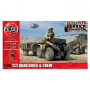 Kit Automodele Airfix 4701 Quad British Quad Bikes And Crew Scara 1:48