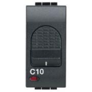 > LivingLight Antracite - magnetotermico 1P+N 6A 1,5kA