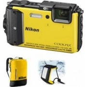 Aparat Foto Digital Nikon COOLPIX AW130 Diving KIT Yellow