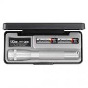 Maglite Mini linterna LED de 2 celdas AA en caja de presentación, color plateado