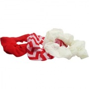 Set of 3 Red White And Striped Rubber Band