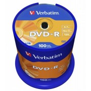 VERBATIM DVD-R lemez, AZO, 4,7GB, 16x, 100 db, hengeren, VERBATIM