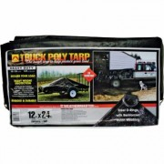 Dize Heavy-Duty Poly Truck Tarp - 12Ft. x 24Ft., Model TT1224