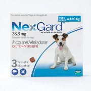 NexGard Chews For Small Dogs 10.1-24lbs (4-10kg),3 Pack
