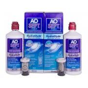 Alcon Líquido AO SEPT PLUS HydraGlyde 2 x 360 ml