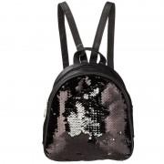 Geen Rugzak/schooltas zwart met pailletten 19 cm voor meisjes