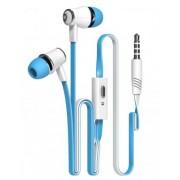 Langsdom JM21 In-Ear hörlurar , universal, trasselfri, Blå/vit