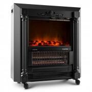 Klarstein Grenoble estufa decorativa chimenea electrica efecto llama 2000W negro (FP1-Grenoble)