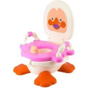 ABASR PANDA CREATION DUCKY POTTY TRAINER SEAT (PINK WHITE)