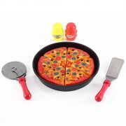Pizza Kitchen Cut & Serve Play Food Toy Set For Kids Cooking & Cutting Fast Food Party
