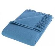 Nordisk tekstil Ullpläd - blå i 100% norsk ull - 130x200cm