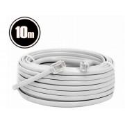 GI 20303 RJ11 6P4C dugó - RJ11 6P4C dugó telefon összekötő kábel 10m - fehér