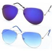 Stacle Aviator Sunglasses(Blue)