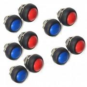 ZHAOYAO DIY Mini 12mm Momentary Waterproof Push Button Switches (10 PCS)