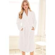 Womens Next Cable Textured Robe - White Sleepwear Nightwear
