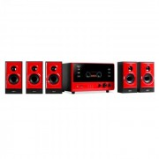 OneConcept V51 Sistema de audio activo 5.1 surround USB SD 70W (MM-V51-RED)