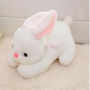 """Judy Dre am Cute Small White Rabbit Toys-Judy Dre am Soft Children's Toy PP Cotton Doll Soft Cartoon Animals Plush Rabbits Toys for Kid 11-"""""""