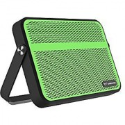 Raidfox@ Everywhere Wireless Portable Bluetooth Outdoor Speaker WaterProof with NFC Microphone Loud & Light Rechargeable Battery and Retro Design (Black+Green)