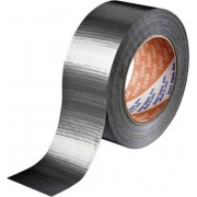 Banda adeziva izolatoare (L x l) 50 m x 48 mm, adeziv cauciuc natural, argintiu, Tesa 4613