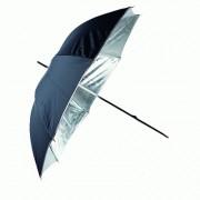 Umbrela de reflexie argintie/neagra 120cm Linkstar PUR-102SB