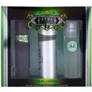 Cuba Green coffret II. Eau de Toilette 100 ml + loção after shave 100 ml + desodorizante em spray 200 ml