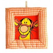 Tablou textil pentru perete Disney Tigru, carouri portocaliu