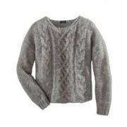 "Clark Ross Chunky Knit Alpaca Pullover ""Slim Line"", 16 - Light Grey"