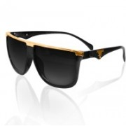 Knotyy Rectangular Sunglasses(Black, Clear)
