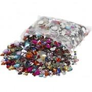 Merkloos Decoratie plak diamantjes hart