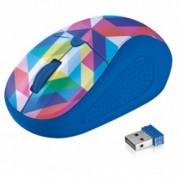 Мишка Trust Primo Wireless Mouse, оптична (1600dpi), безжична, USB, синя-текстура