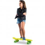 Skateboard 22 inch, Placa Galbena, Roti Verzi, ABEC 7