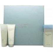 Dolce&Gabbana Blue Set de Regalo 50ml EDT + 50ml Crema Corporal + 50ml Gel de Ducha
