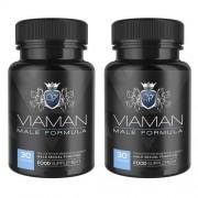 Viaman Natuurlijke erectie pil - Helpt bij het behoud van testosteronniveaus in het bloed - 2 pack
