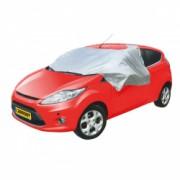 Husa pentru parbriz impotriva inghetului pentru masinile hatchback cu dimensiunile 285 x 150 cm prelata parbriz cu magneti de