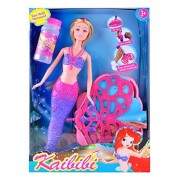 Bubble Blowing Mermaid Doll with Real to Blow Bubbles