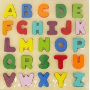 Joc puzzle din lemn Alfabetul