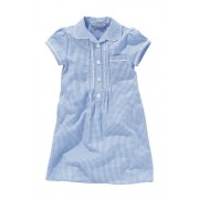 Next Lace Gingham Dress (3-14yrs) - Blue